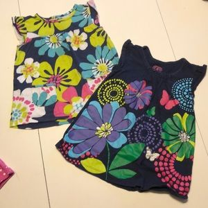 Cute set of two floral tunics